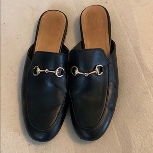 Cute Black Loafer Mule.